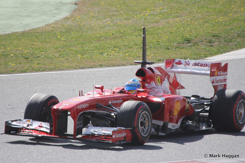 Fernando Alonso in his Ferrari at Formula One Winter Testing, 3rd March 2013