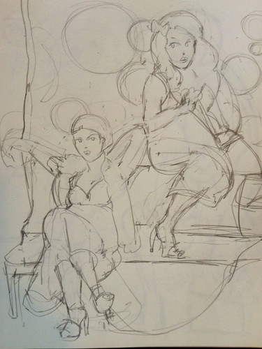 Dr sketchy - NJ - drawing -art
