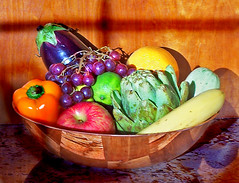 Eat healthy fruits and veggies bowl