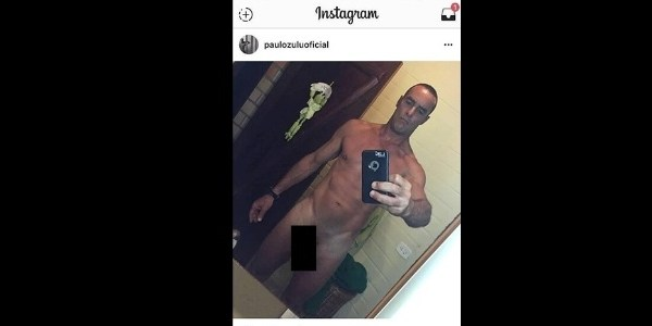 "Paulo Zulu tem foto íntima postada na web e se desculpa: ""Hackeada"""