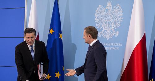 Konferencja prasowa premiera Tuska i wicepremi...