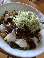 Taco salad with alfalfa sprouts #naturallyglutenfree #gf #glutenfree