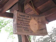 """Wood """"Gong"""" at Tassajara"""