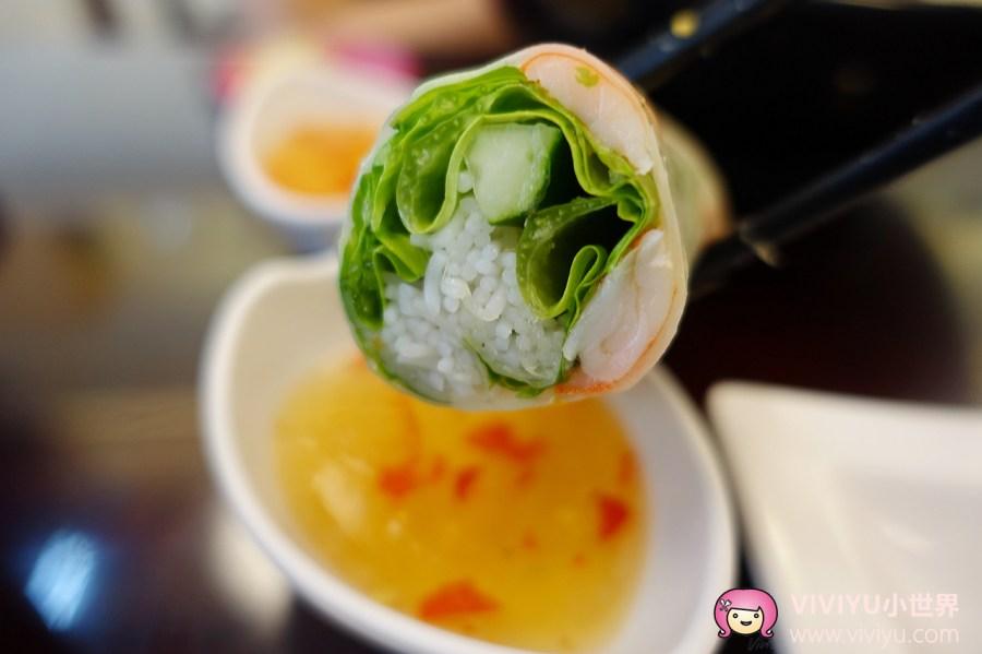 桃園小吃,桃園美食,桃園餐廳,河粉,生春捲,米線,越河美食館 @VIVIYU小世界