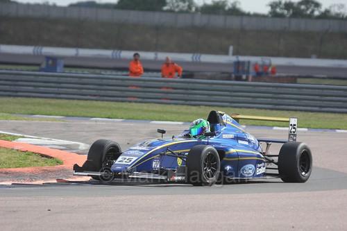 Alexandra Marinescu in British Formula 4 at Rockingham, August 2016