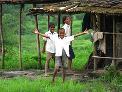 Children near Pawana Dam