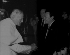 Pope John Paul II and Gov. Paul Calvo