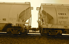 CMEX cement cars en route westbound through Ro...