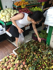 Shopping for lychee fruit