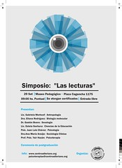 """Simposio: """"Las lecturas"""" / Symposium: """"Readings"""" • <a style=""""font-size:0.8em;"""" href=""""http://www.flickr.com/photos/52183104@N04/7966180136/"""" target=""""_blank"""">View on Flickr</a>"""