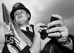 Policeman at  Brighton Pride 2012