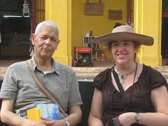 Julian Bond, Jenna, and a Stupid Hat