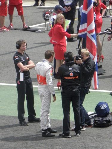 Jenson Button ahead of the 2011 British Grand Prix at Silverstone
