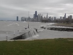 Superstorm Sandy @Lakeview lakeshore Chicago