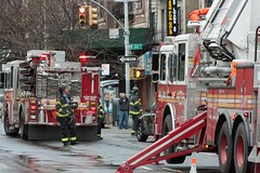 Hurricane Sandy in West Harlem:  Building Dama...