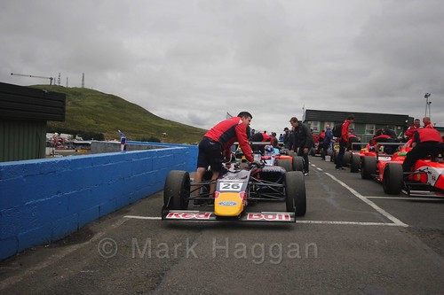 Luis Leeds gets ready for the second British Formula Four race at the Knockhill BTCC Weekend, August 2016