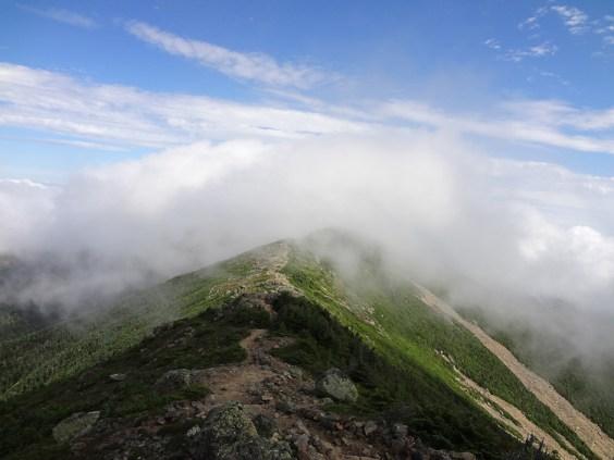 New Hampshire Appalachian trail hike ascent of Mt. Lafayette