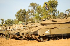IDF Forces in Staging Areas Around Gaza Strip