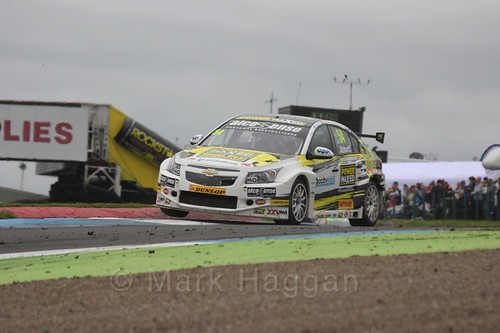 Hunter Abbott in race two during the BTCC weekend at Knockhill, August 2016