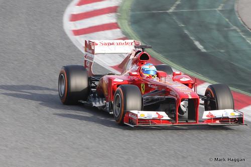 Fernando Alonso in is Ferrari at Formula One Winter Testing, 3rd March 2013