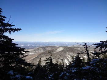 Glencliff Trail and Appalachian Trail View on Mt. Moosilauke in New Hampshire