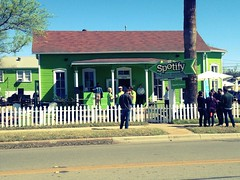 Spotify's big green house #sxsw
