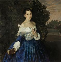 Konstantin Somov  'Lady in blue. Portrait of Ye.M. Martynova' 1897-1900