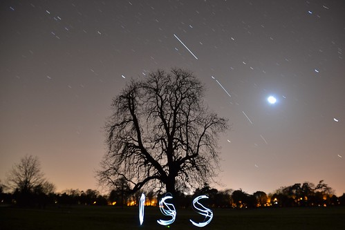 ISS With Light-Painting