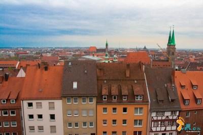 O centro histórico visto desde o miradouro do ...