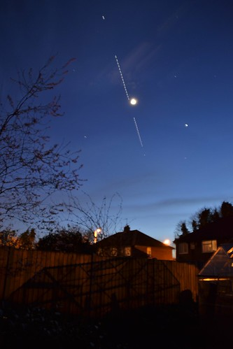 ISS Emerges from the West