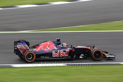 Daniil Kvyat in his Toro Rosso in Free Practice 1 at the 2016 British Grand Prix at Silverstone