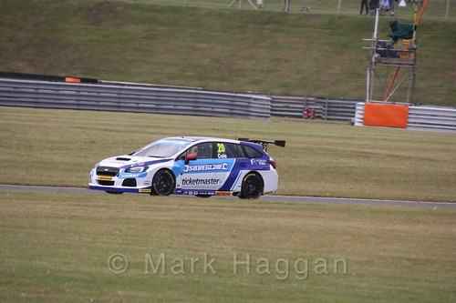 James Cole in Touring Car action during the BTCC 2016 Weekend at Snetterton