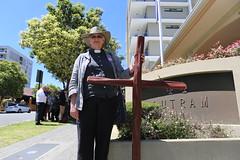 Dr Elizabeth Smith in prayerful support