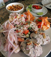 Day 498. In Lima, with fraternity brother @arturodtca, eating ceviche. I'm a happy man. #theworldwalk #travel #peru