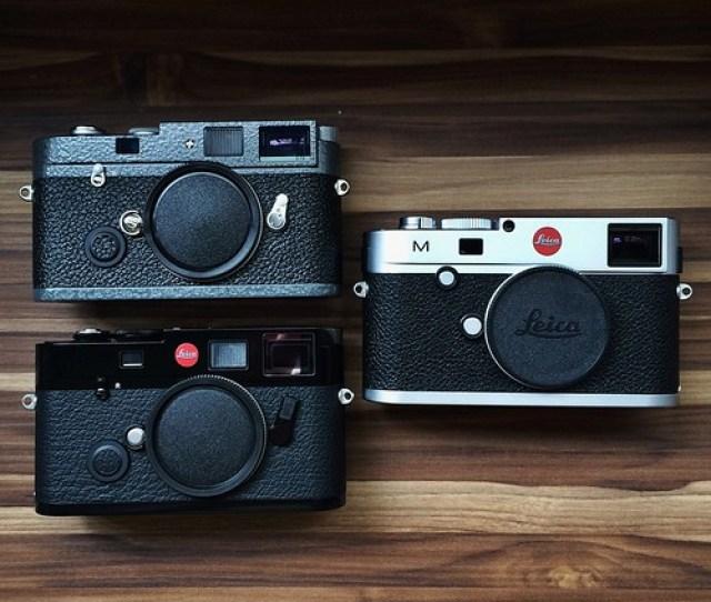 Top Left Leica Mp Hammertone Lhsa Special Edition Bottom Left Leica M6 Ttl Black Paint Dragon 2000 Edition Right Leica M240