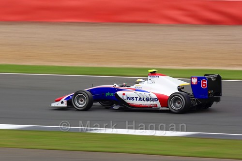 Arthur Janosz in the Trident car in qualifying for GP3 at the 2016 British Grand Prix
