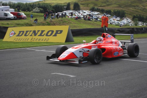 Rafael Martins in the final British Formula Four race during the BTCC Knockhill Weekend 2016
