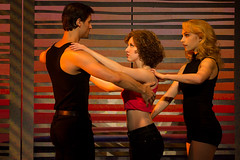 """Samuel Pergande (Johnny), Jillian Mueller (Baby) and Jenny Winton (Penny) in the Broadway Sacramento presentation of """"Dirty Dancing – The Classic Story On"""" Stage at the Sacramento Community Center Theater Dec. 26, 2014 – Jan. 4, 2015. Photo by Matthew Mur"""