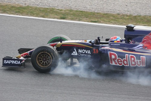 Max Verstappen in the Toro Rosso in Formula One Winter Testing 2015