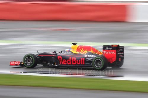Daniel Ricciardo in his Red Bull during the 2016 British Grand Prix