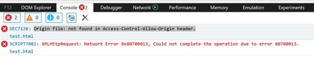 Origin file: not found in Access-control-Allow-Origin header.