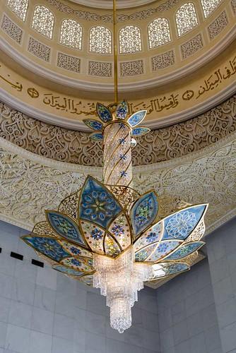 La mosquée d'Abu Dhabi