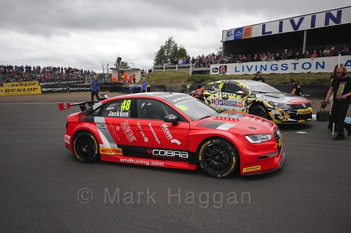 Ollie Jackson on the grid during the BTCC Knockhill Weekend 2016