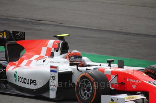 Daniël de Jong in the MP Motorsport car in GP2 Practice at the 2016 British Grand Prix