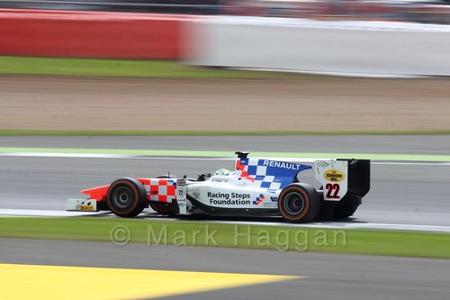 Oliver Rowland in the MP Motorsport car in the GP2 Feature Race at the 2016 British Grand Prix