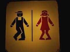 Affichette Toilettes Lisbonne