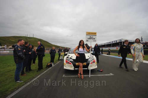Matt Simpson on the grid during the BTCC Knockhill Weekend 2016