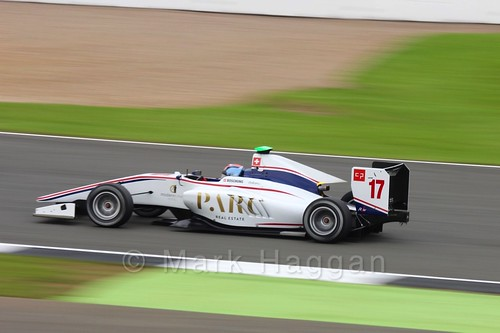 Ralph Boschung in the Koiranen GP car in qualifying for GP3 at the 2016 British Grand Prix
