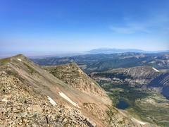 View to the northwest from the Culebra Peak summit.