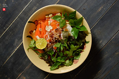 Vietnamese Rice Noodle and Fresh Herbs